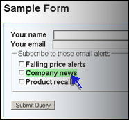 A form label with a hover style