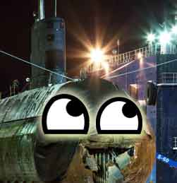 HMCS Corner Brook as smiley