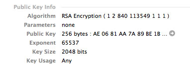 Webmin 2048-bit key details